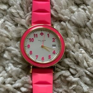 Bright pink Kate Spade watch
